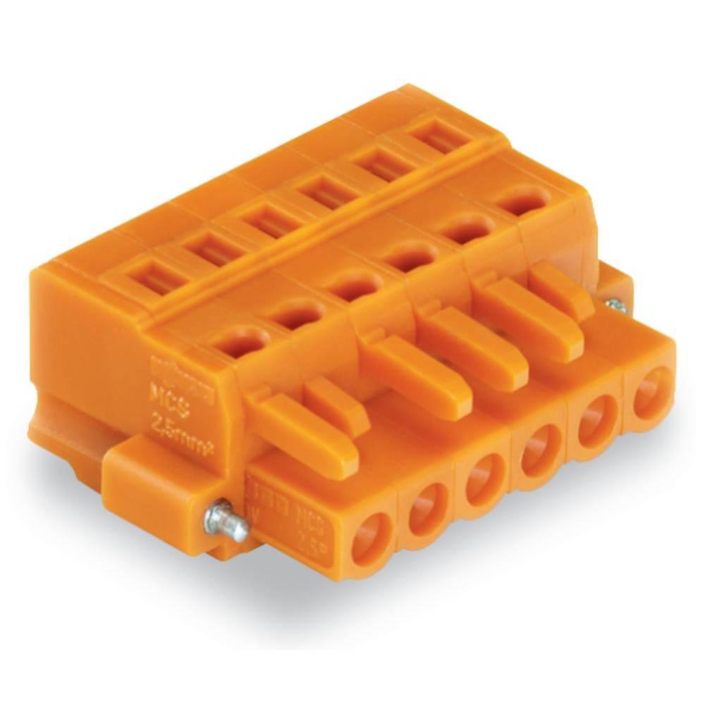 Ohišje vtičnice - kabel 231 št. polov skupaj 6 WAGO 231-306/107-000 mere: 5.08 mm 50 kosov