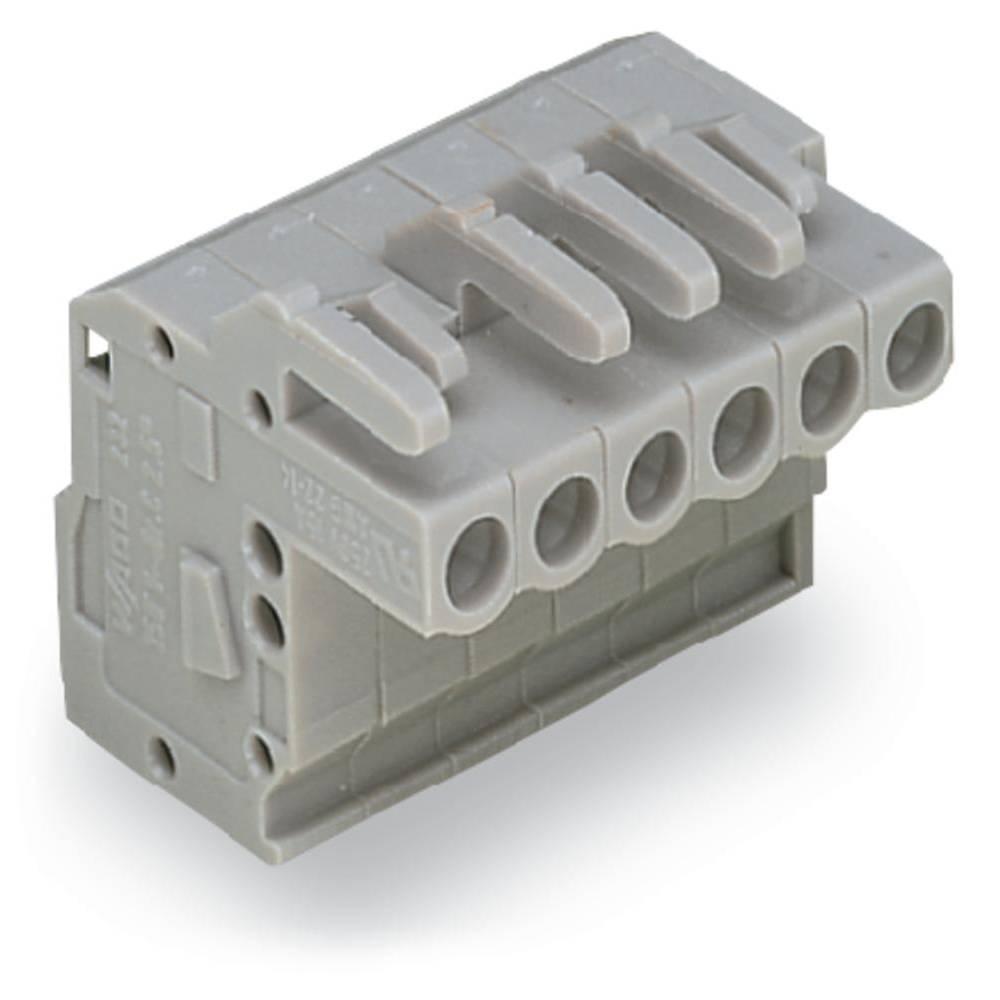 Tilslutningskabinet-kabel 232 (value.1360685) Samlet antal poler 6 WAGO 232-106/026-000 Rastermål: 5 mm 50 stk