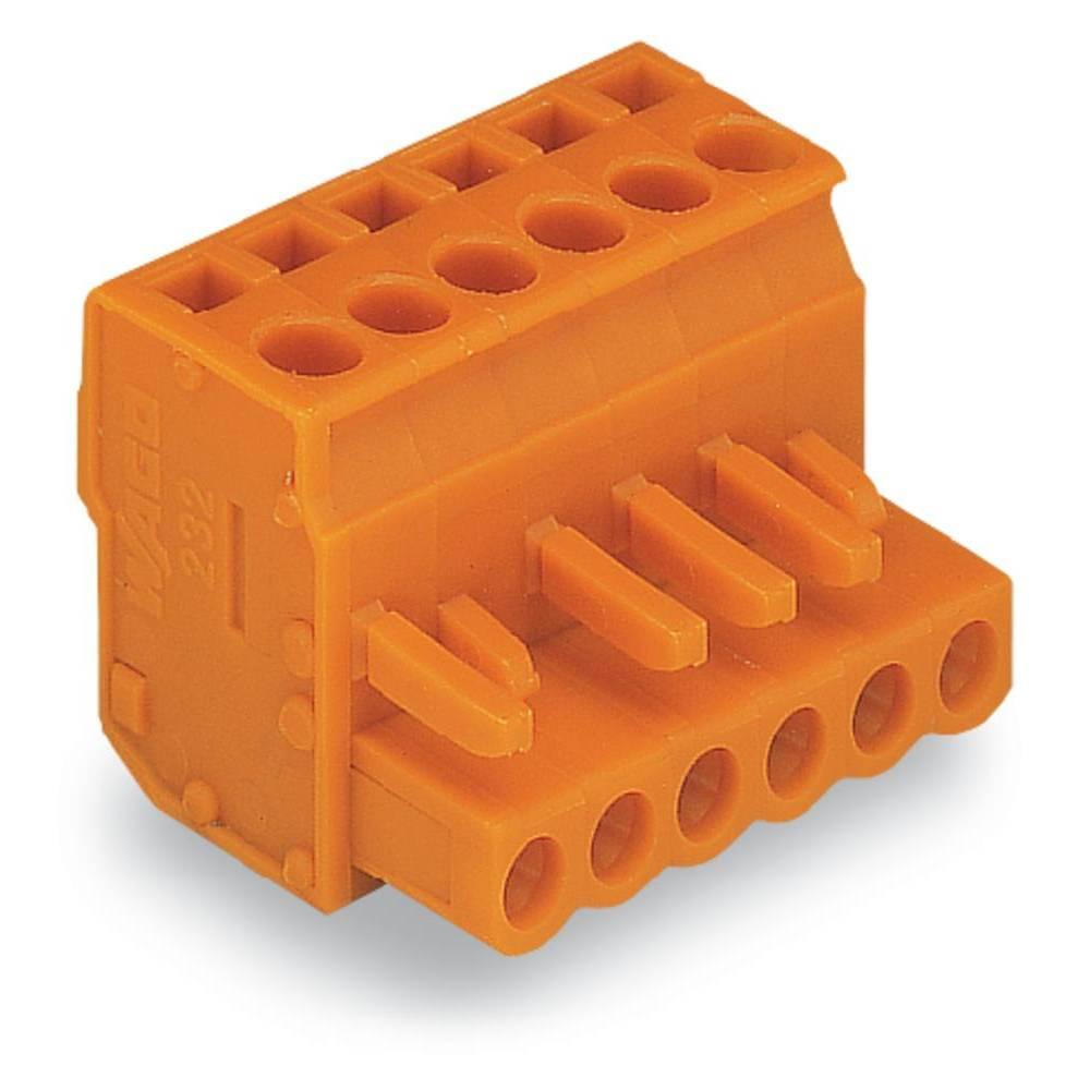 Tilslutningskabinet-kabel 232 Samlet antal poler 7 WAGO 232-407/026-000 Rastermål: 5.08 mm 50 stk