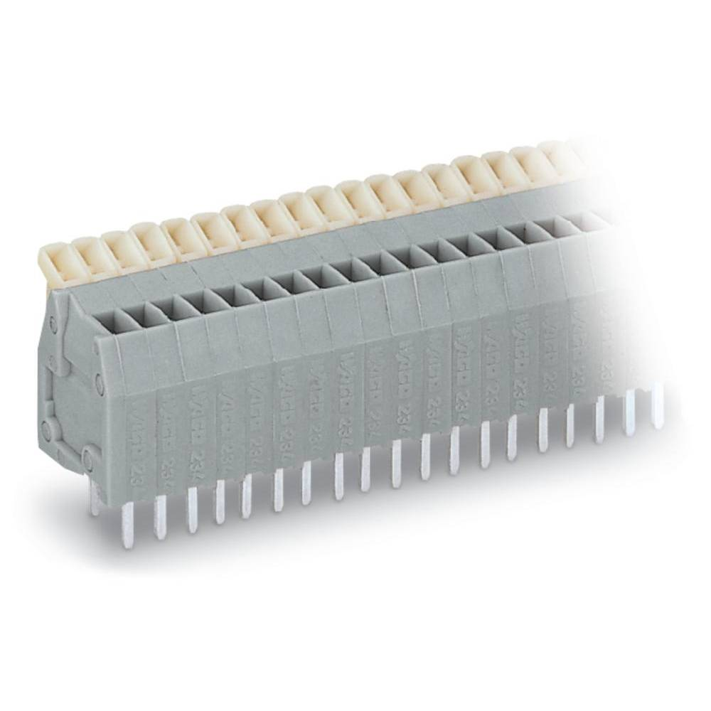 Fjederkraftsklemmeblok WAGO 0.50 mm² Poltal 4 Grå 400 stk