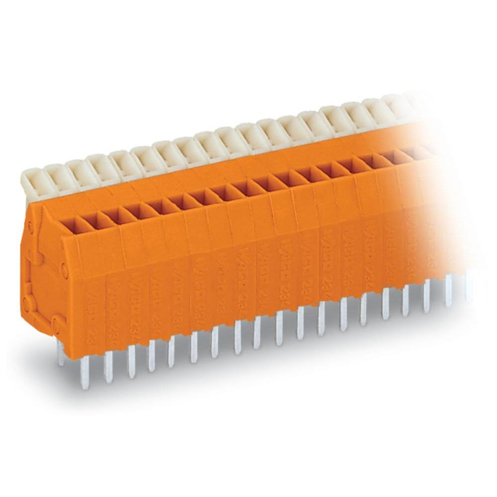 Fjederkraftsklemmeblok WAGO 0.50 mm² Poltal 24 Orange 80 stk