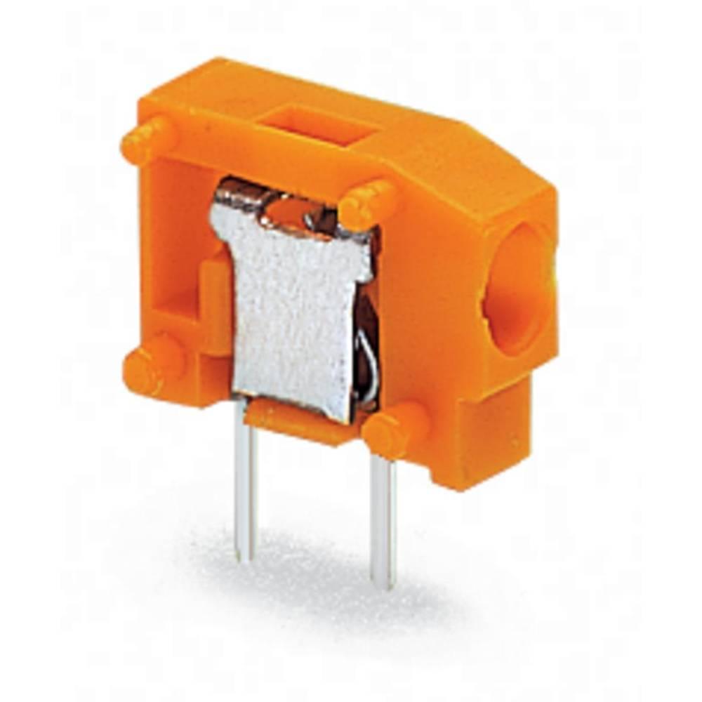 Fjederkraftsklemmeblok WAGO 0.75 mm² Poltal 1 Orange 800 stk