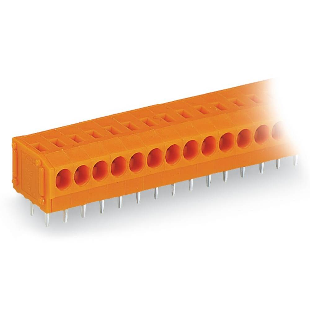 Fjederkraftsklemmeblok WAGO 0.75 mm² Poltal 5 Orange 220 stk