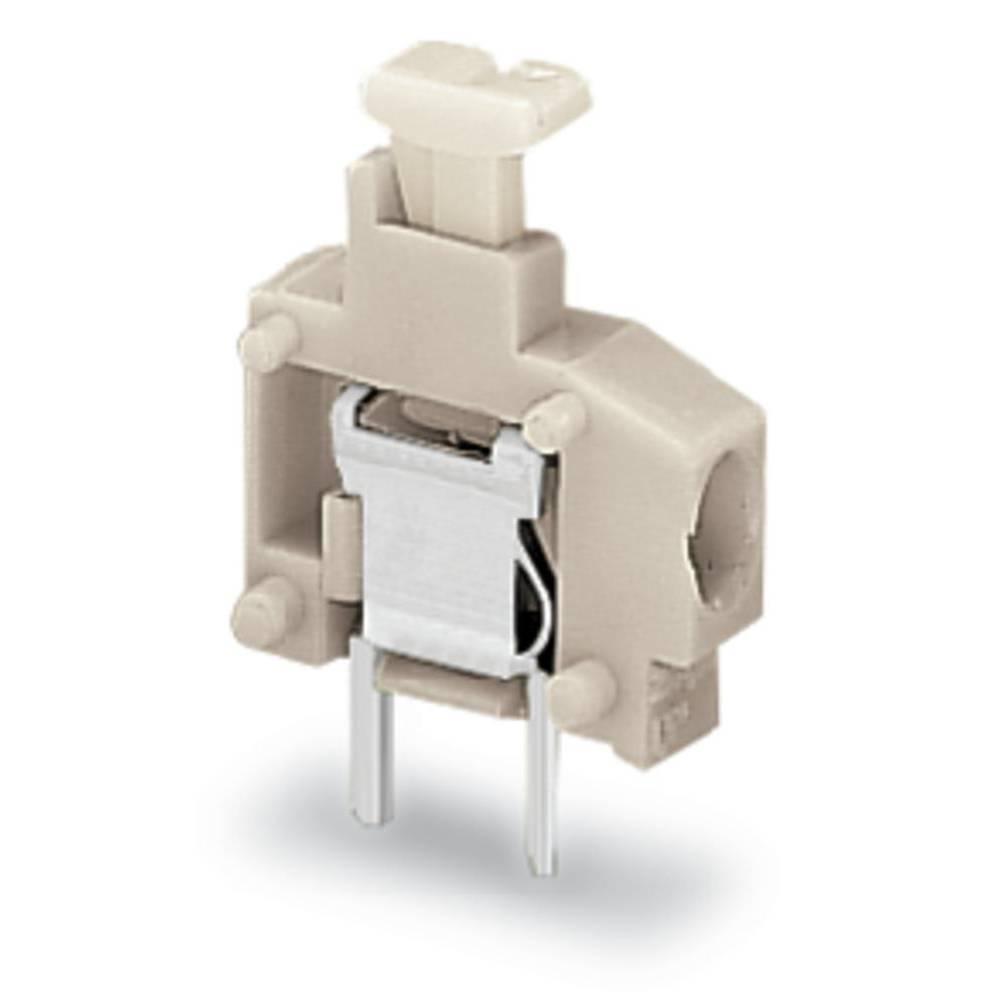 Fjederkraftsklemmeblok WAGO 1.50 mm² Poltal 1 Lysegrå 800 stk