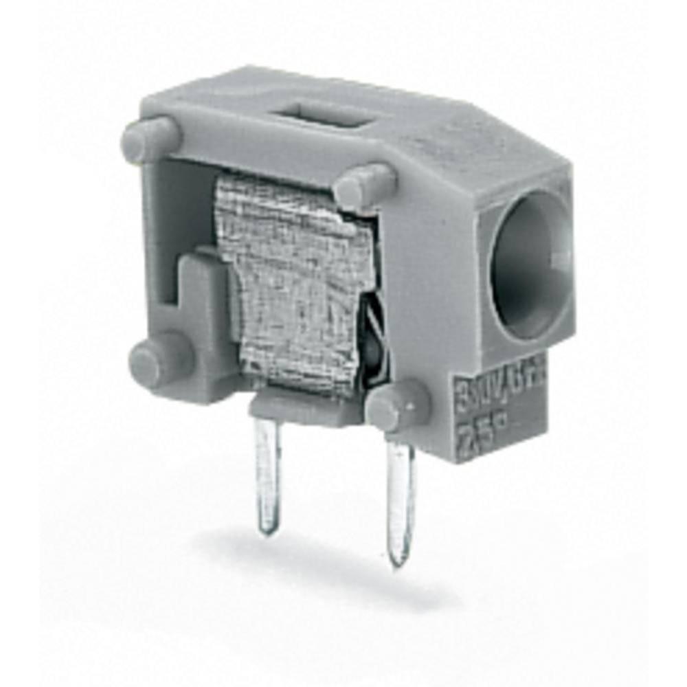 Fjederkraftsklemmeblok WAGO 1.50 mm² Poltal 1 Grå 800 stk