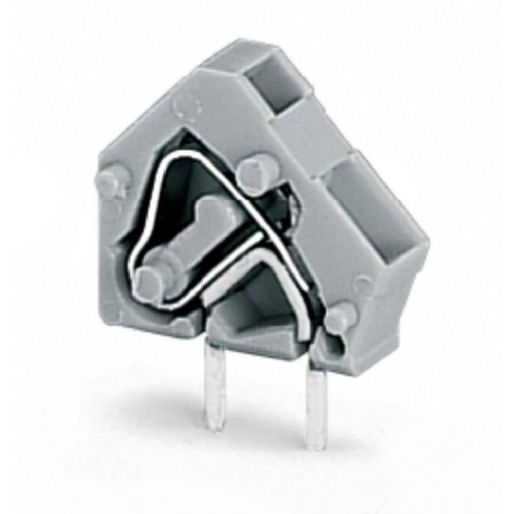 Fjederkraftsklemmeblok WAGO 2.50 mm² Poltal 1 Lysegrå 600 stk