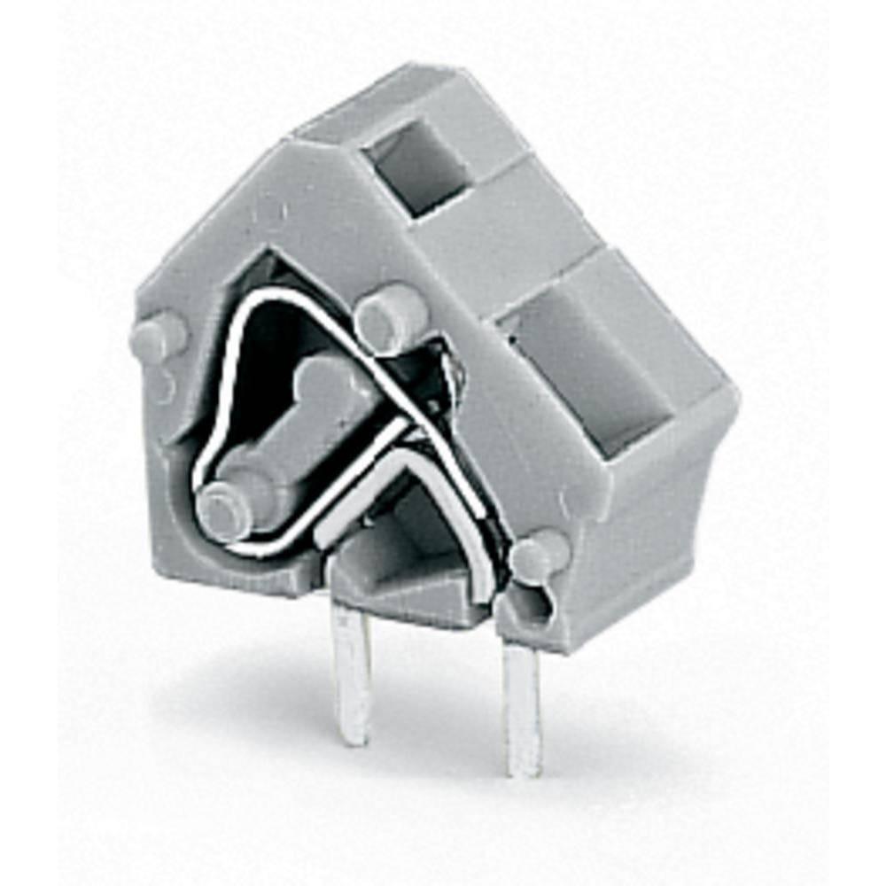 Fjederkraftsklemmeblok WAGO 2.50 mm² Poltal 1 Blå 400 stk