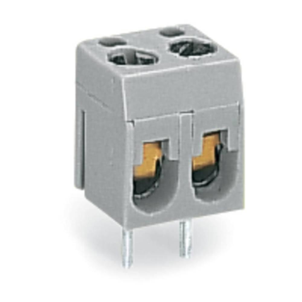 Skrueklemmeblok WAGO 2.50 mm² Poltal 1 Grå 600 stk