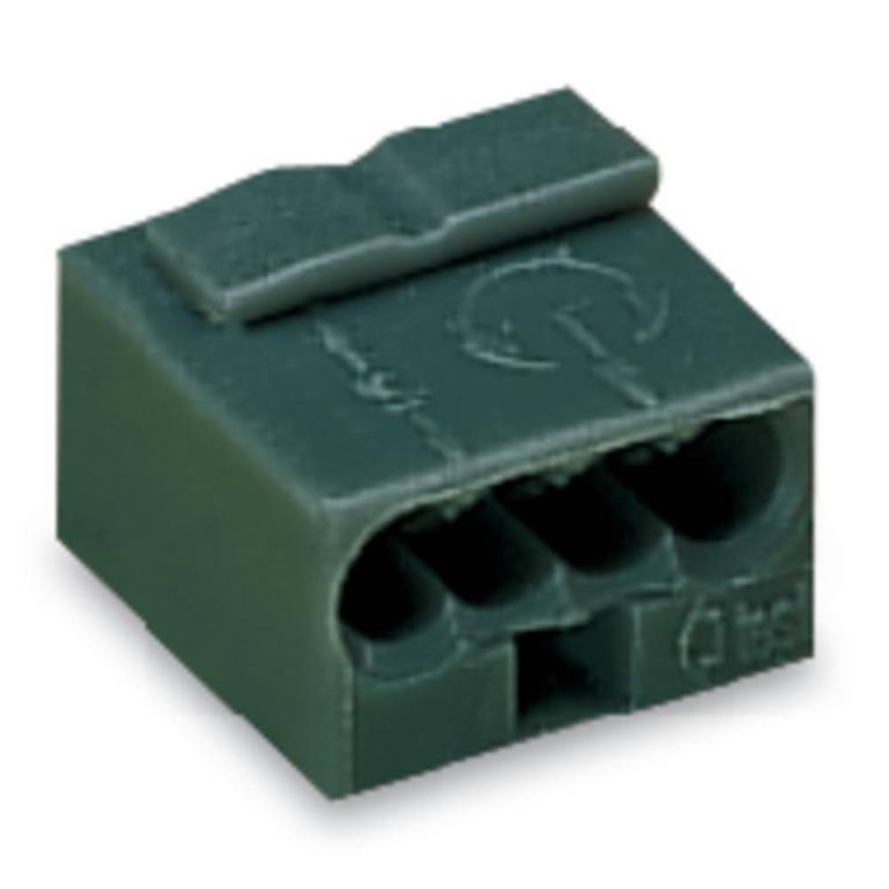 Povezovalna sponka, prilagodljiva: - toga: 0.28-0.5 mm št. polov: 4 WAGO 243-214 400 kos temno-siva