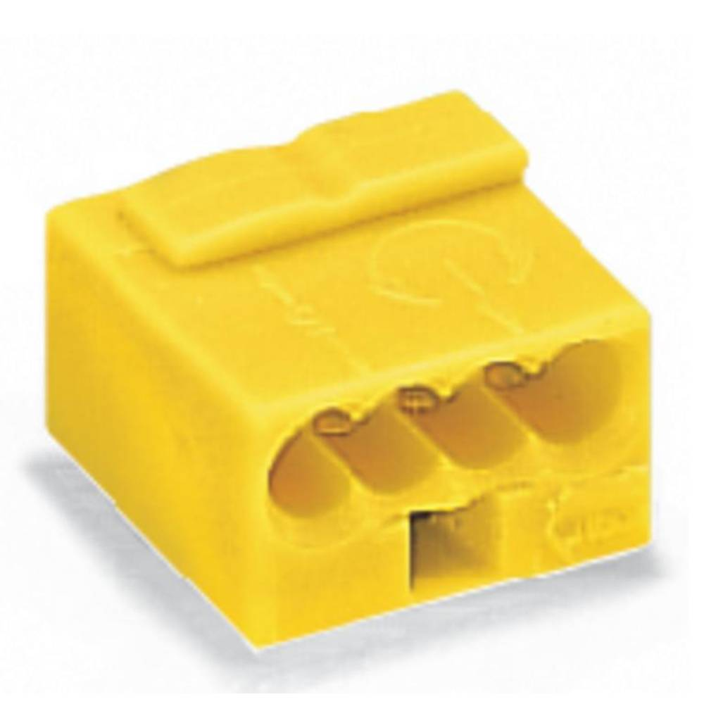 Povezovalna sponka, prilagodljiva: - toga: 0.28-0.5 mm št. polov: 4 WAGO 243-514 400 kos rumena