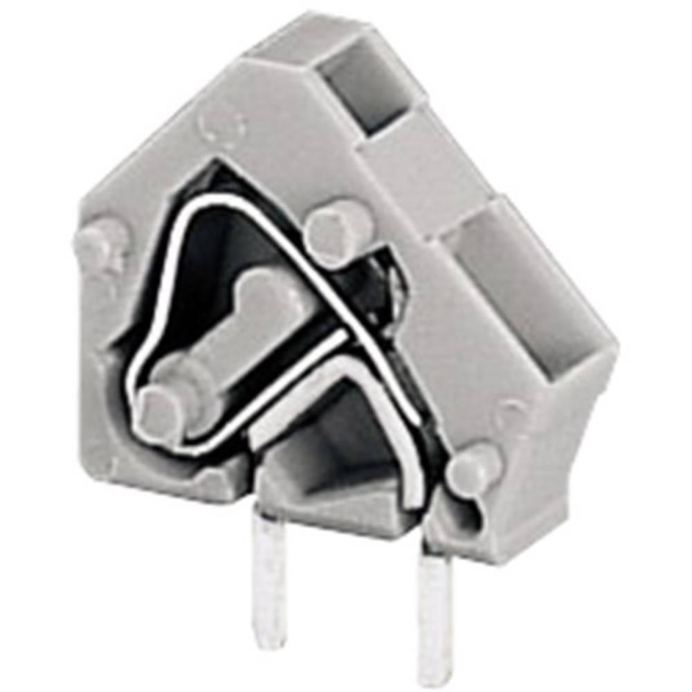 Fjederkraftsklemmeblok WAGO 2.50 mm² Poltal 2 Grå 1 stk