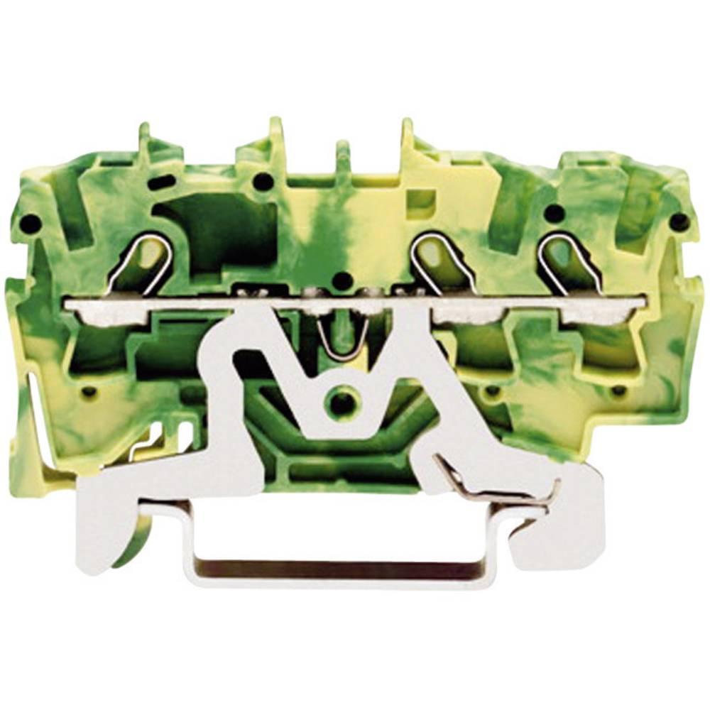 Jordklemme 4.20 mm Trækfjeder Belægning: Terre Grøn-gul WAGO 2001-1307 1 stk