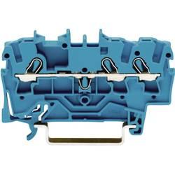 Gennemgangsklemme 5.20 mm Trækfjeder Belægning: N Blå WAGO 2002-1304 1 stk