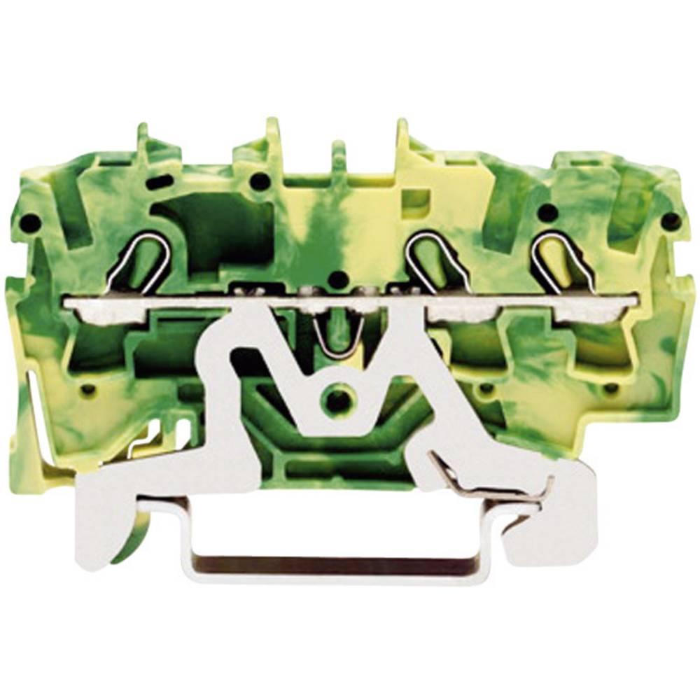 Jordklemme 5.20 mm Trækfjeder Belægning: Terre Grøn-gul WAGO 2002-1407 1 stk