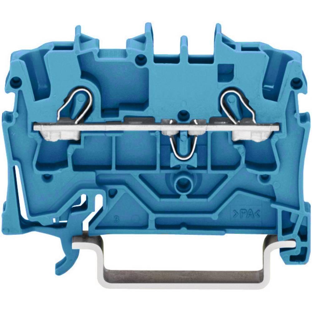 Gennemgangsklemme 5.20 mm Trækfjeder Belægning: N Blå WAGO 2002-1204 1 stk
