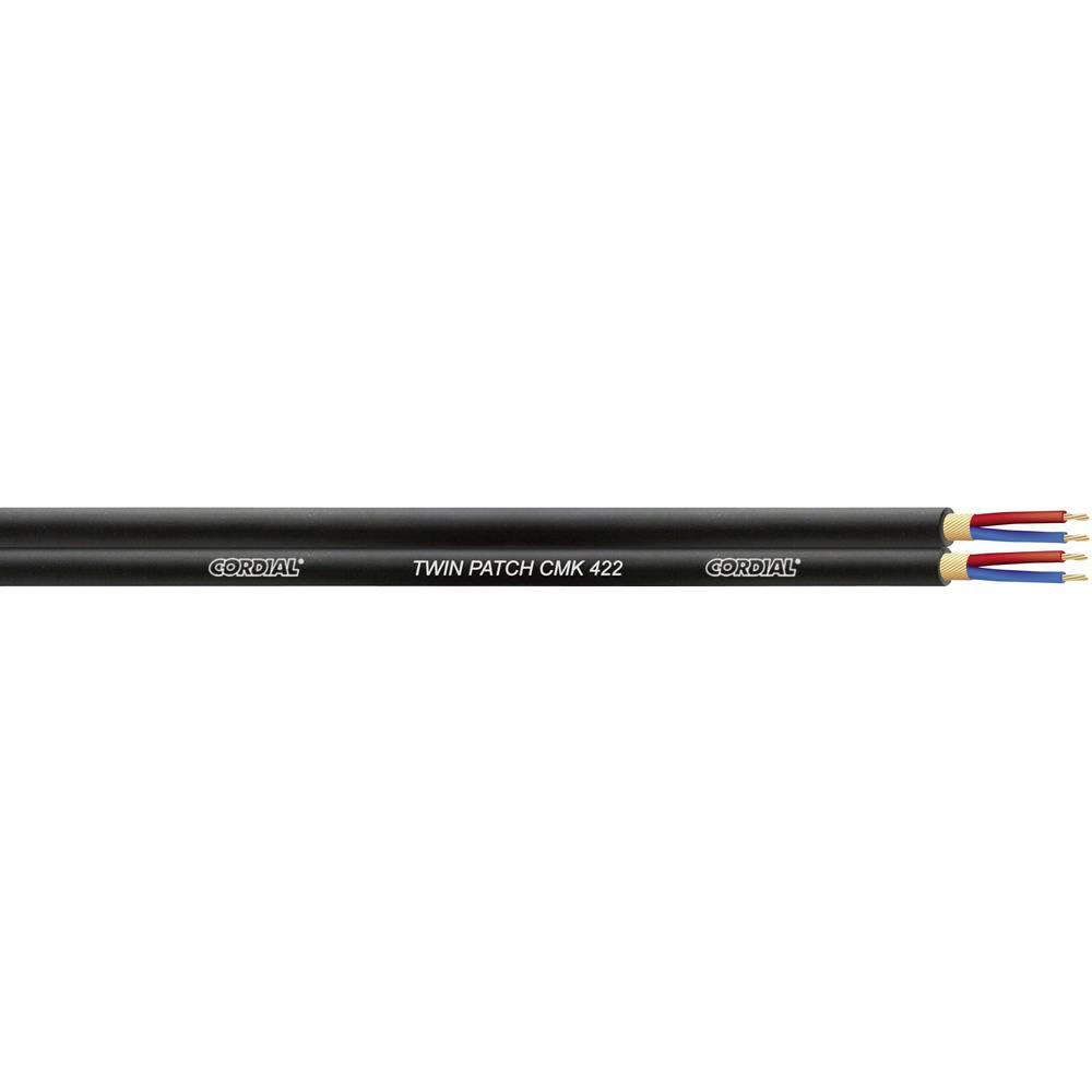 Dvožilni mikrofonski kabel Cordial CMK 422, 4 x 0,22 mm2, črne barve, metrsko blago