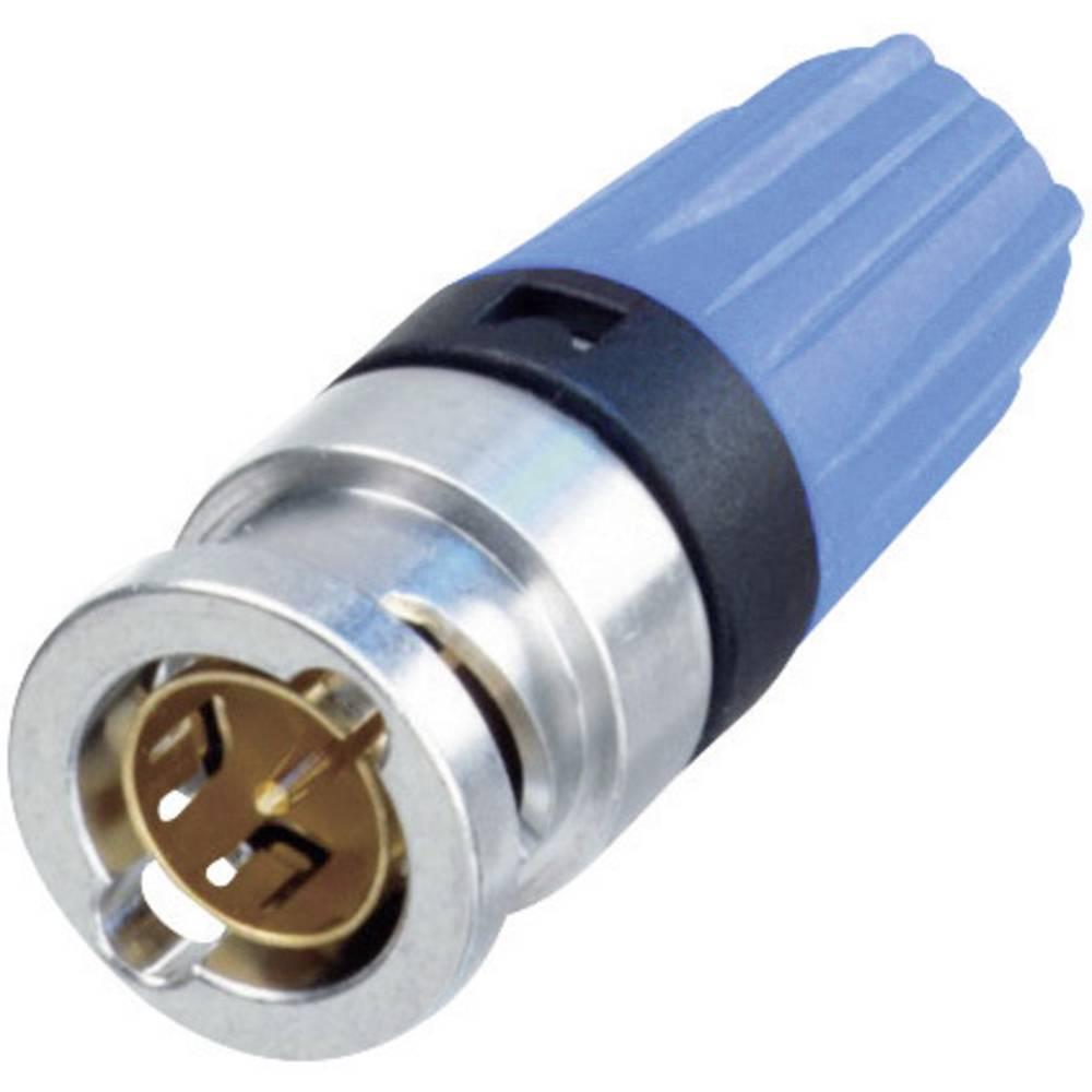 BNC-stikforbindelse Neutrik NBNC75BLP9 75 Ohm Stik, lige 1 stk