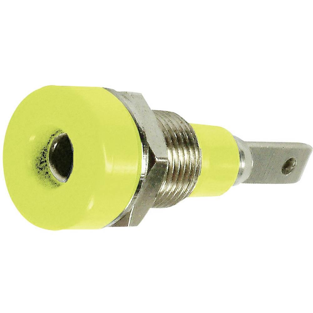 Laboratorietilslutning Tilslutning, indbygning lodret Stäubli LB-I2R 2 mm Grøn-gul 1 stk