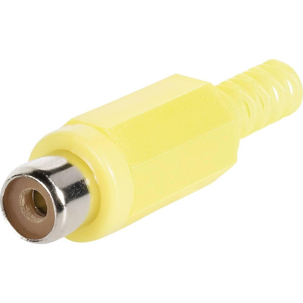 Cinch-povezovalnik vtikačev rumeni BKL Electronic 1108012/T