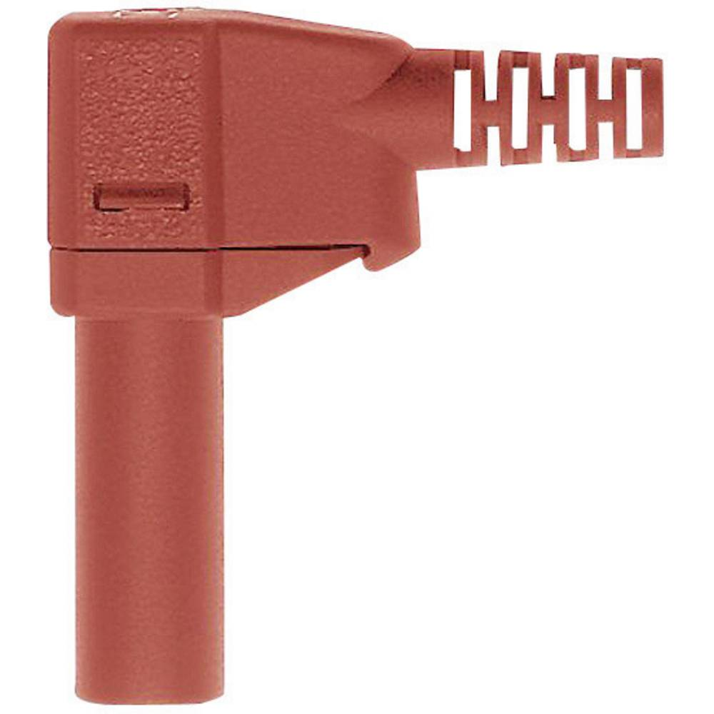 Sikkerhedslamelstik Stik, vinklet Stäubli SLS425-SW 4 mm Rød 1 stk