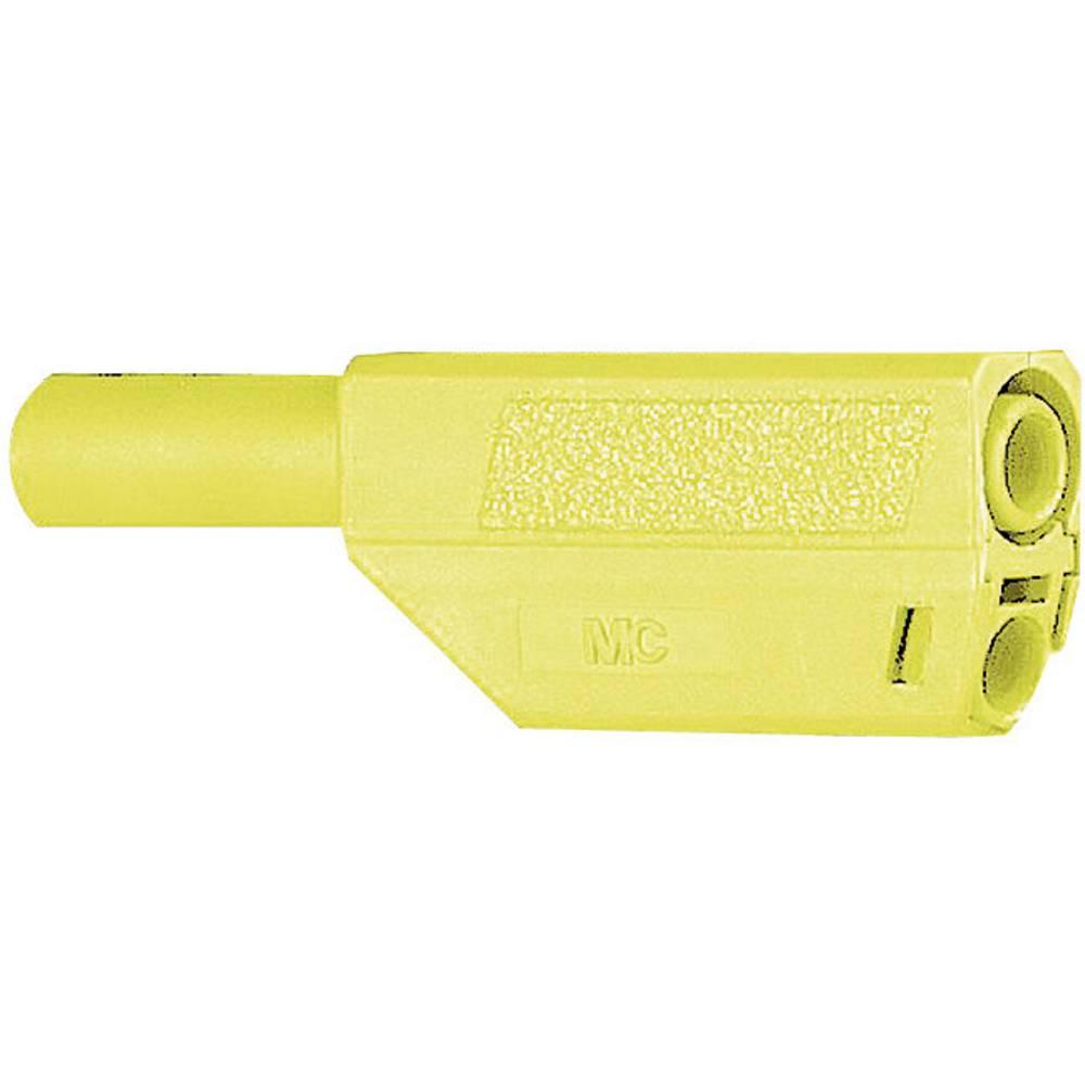 Sikkerhedslamelstik Stik, lige Stäubli SLS425-SE/Q/N 4 mm Grøn-gul 1 stk