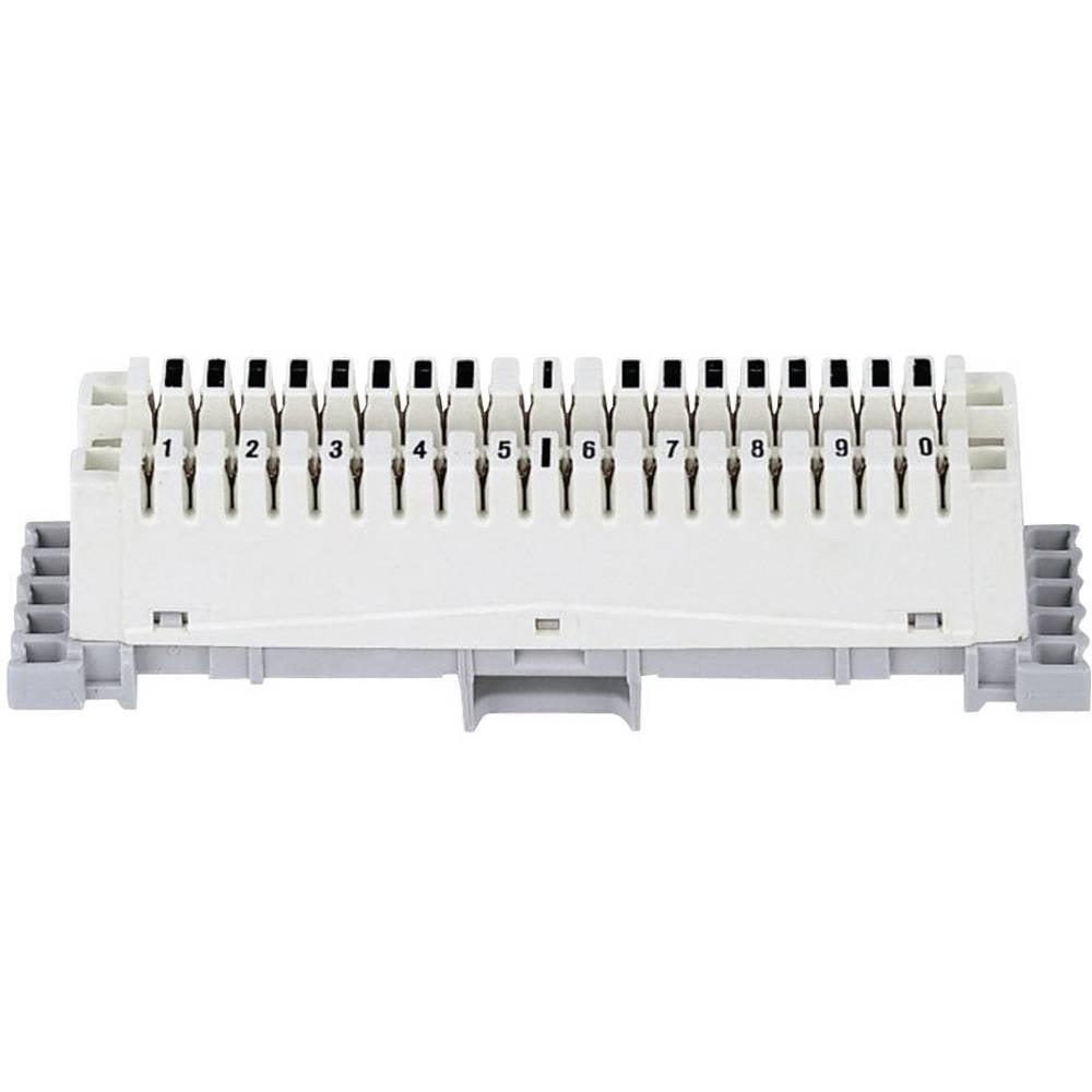 LSA-PLUS tilslutningsliste serie 2 3M 79103-510 00 10 dobbeltledere Hvid 1 stk