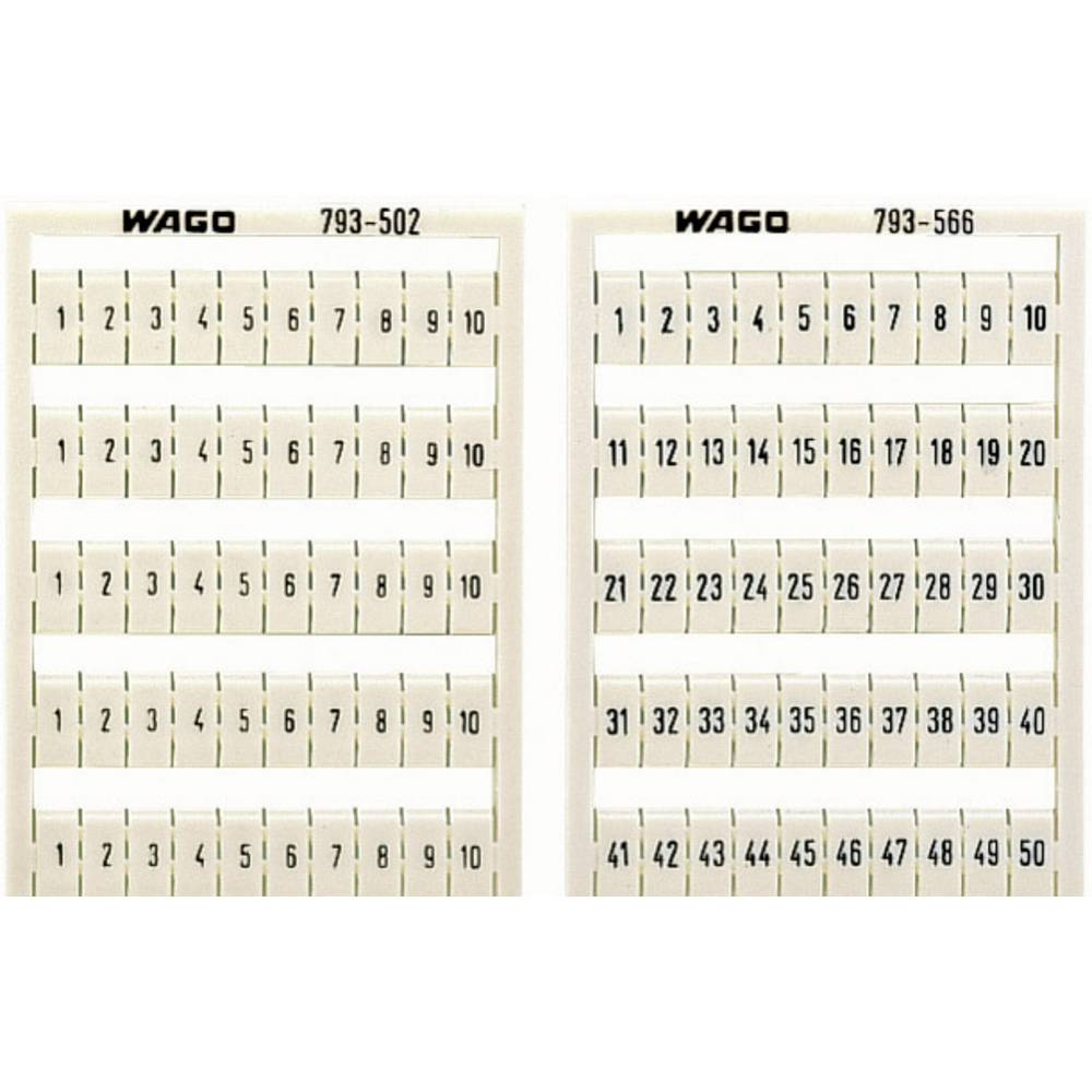 WAGO 793-3501 WMB-name Cards Compatible with: WAGO passage clamp series 2000