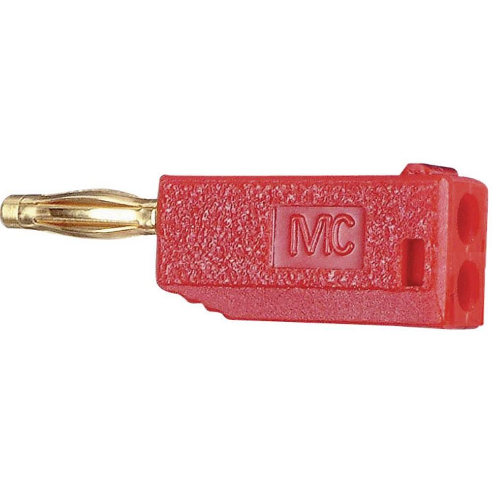 Lamelstik Stik, lige Stäubli SLS205-A 2 mm Rød 1 stk