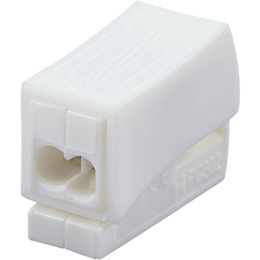 Lestenčna sponka, prečni prerez: 0,5-2,5 mm2, 24 A, bela