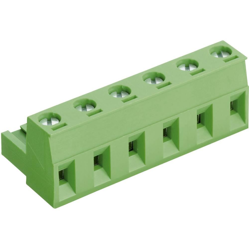 Vtična vijačna sponka s principom dvigala PTR AKZ960, 50960070021D, 12 A, poli: 7, zelena