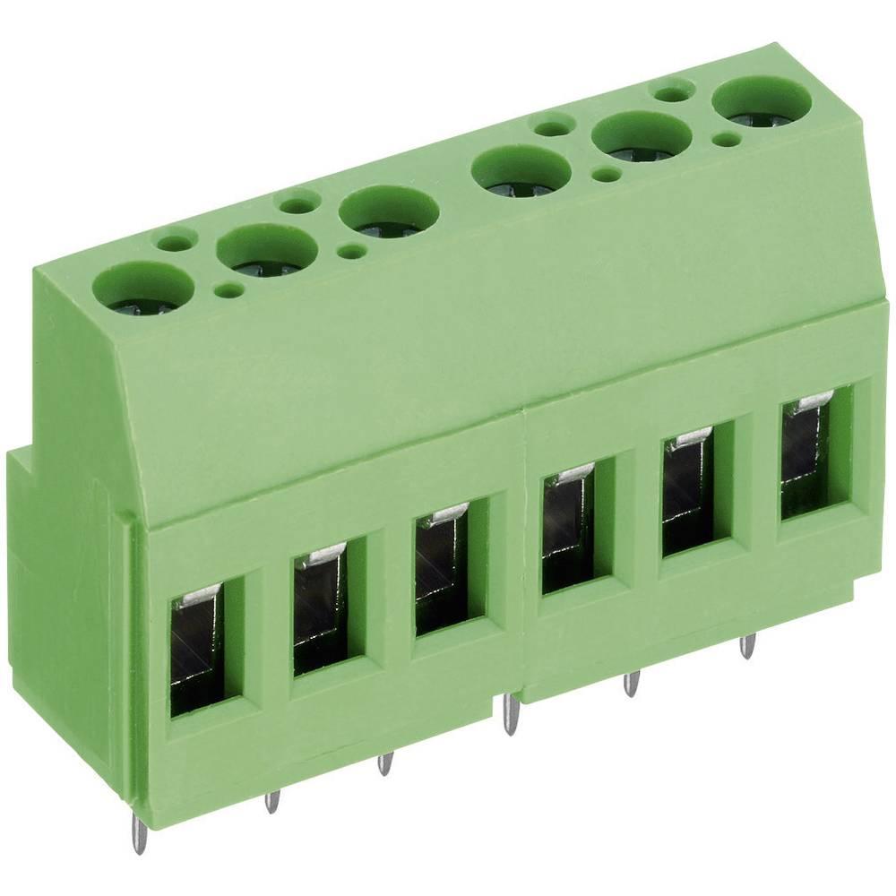 Skrueklemmeblok PTR AKZ700/4-5.08-V 2.50 mm² Poltal 4 Grøn 1 stk