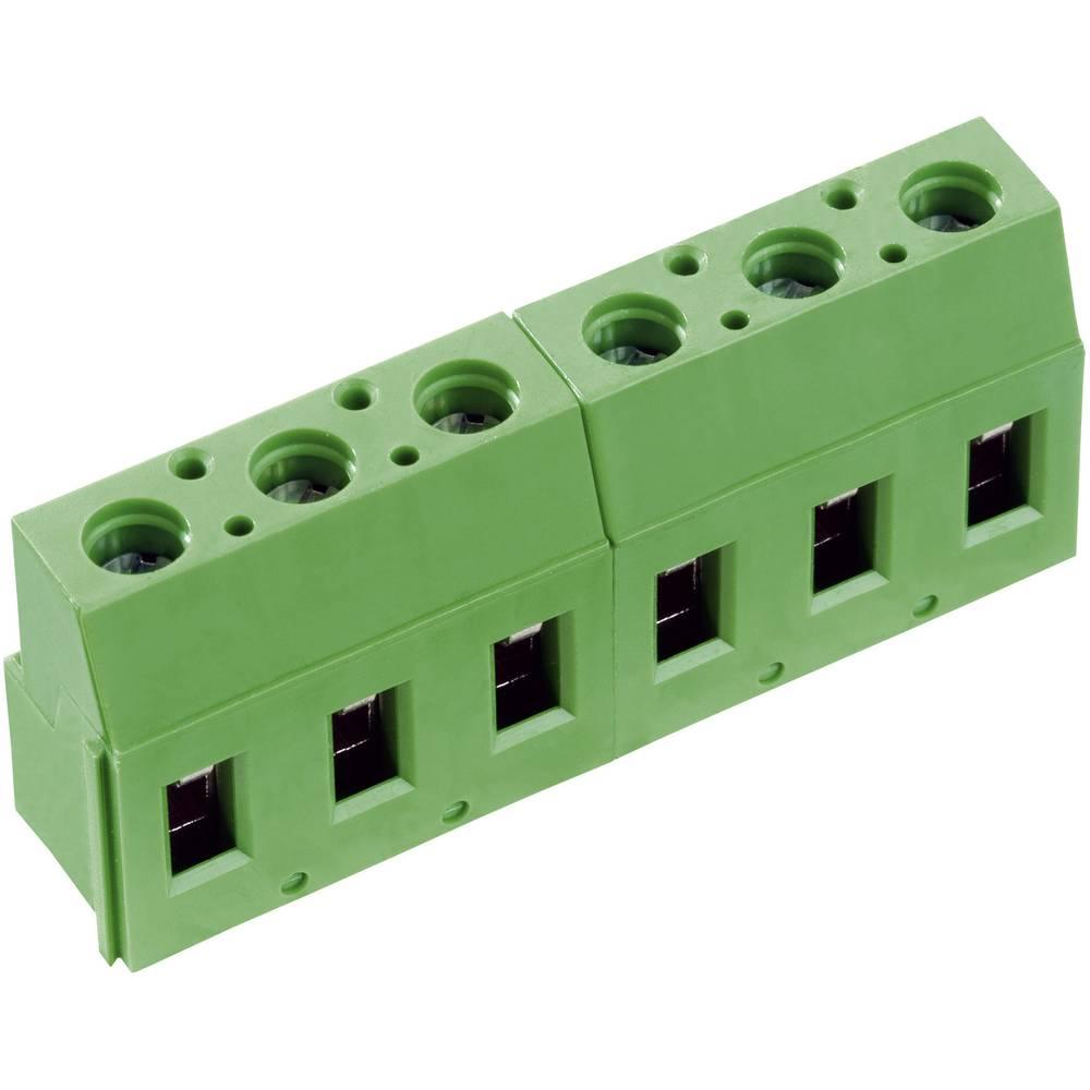 Skrueklemmeblok PTR AK710/4-7.5-V 2.50 mm² Poltal 4 Grøn 1 stk