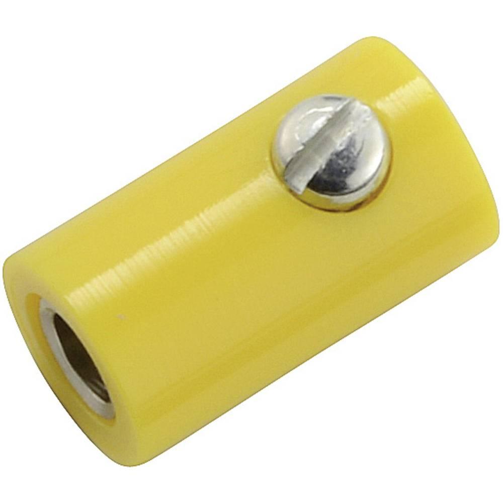 Miniaturelaboratorie-tilslutning Tilslutning, lige 2.6 mm Gul 1 stk