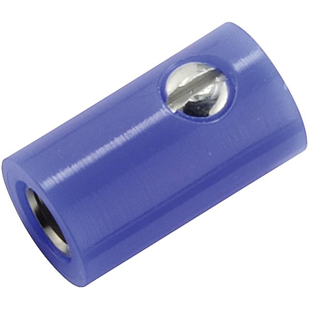 Miniaturelaboratorie-tilslutning Tilslutning, lige 2.6 mm Blå 1 stk