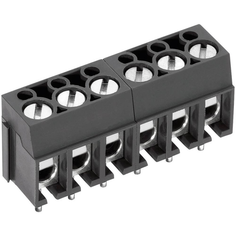 Skrueklemmeblok PTR AK100/3DS-5.0-V 2.50 mm² Poltal 3 Grå 1 stk