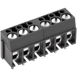 Skrueklemmeblok PTR AK100/4DS-5.0-V 2.50 mm² Poltal 4 Grå 1 stk