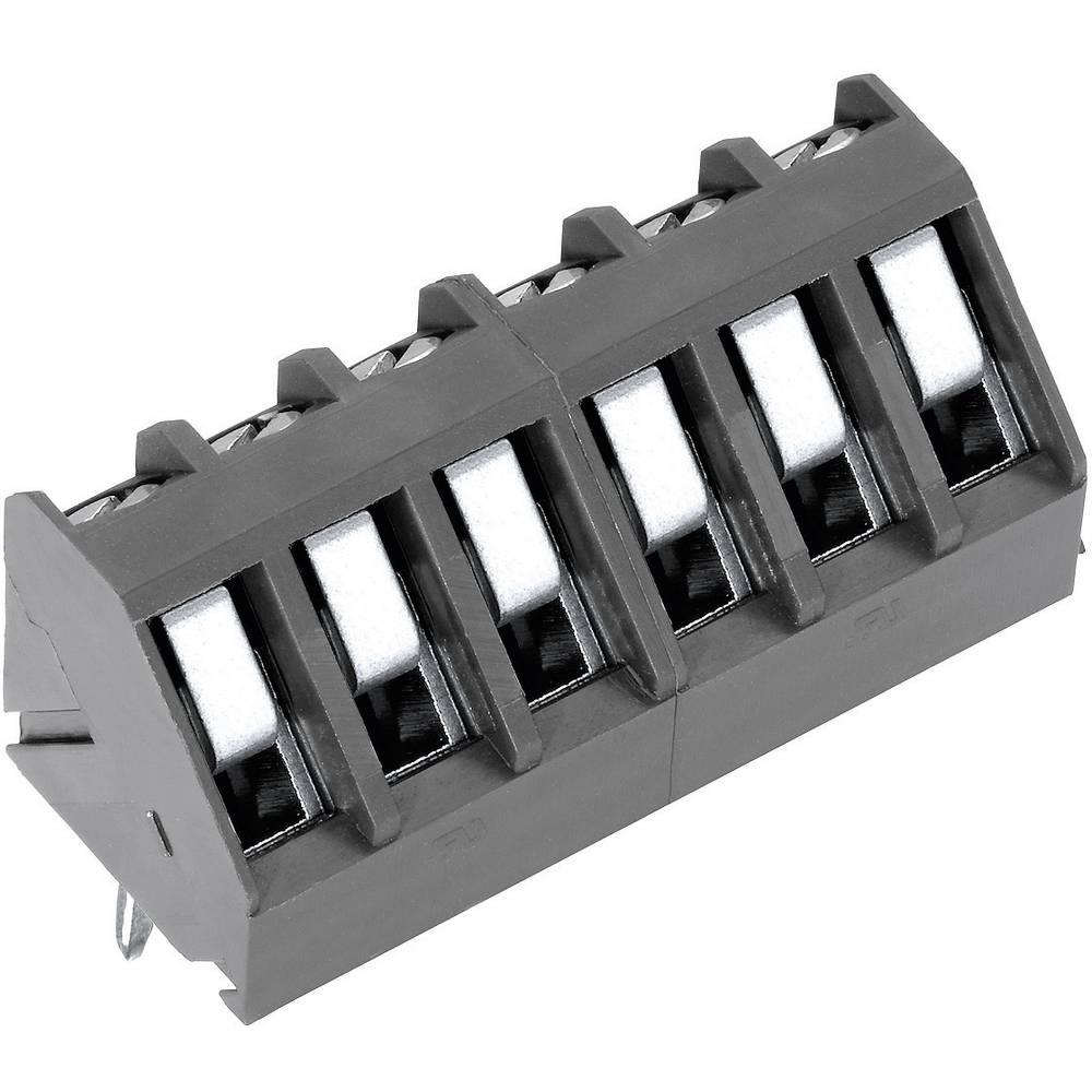Skrueklemmeblok PTR AK300/6-5.0 1.50 mm² Poltal 6 Grå 1 stk