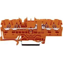 Gennemgangsklemme 5.20 mm Trækfjeder Orange WAGO 2002-1802 1 stk