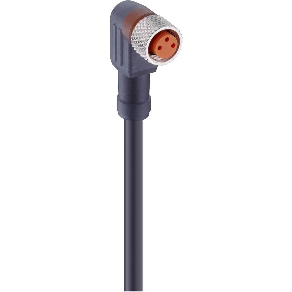 Aktuatorsko-senzorski priključni kabel, M8-konektor, ukrivljen št.polov: 4 RKMWV 4-225/2 M Lumberg Automation vsebina: 1 kos