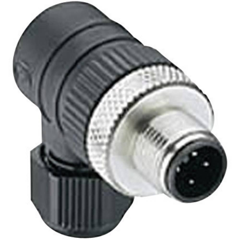 Moški konektor za kabel z možnostjo predpriprave, M12 RSCW 4/7 Črna Lumberg Automatio 108653 Lumberg Automation