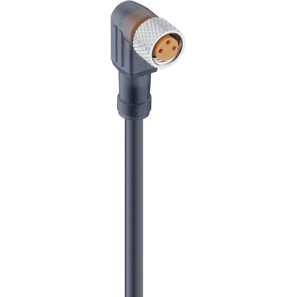 Aktuatorsko-senzorski priključni kabel, M8-konektor, ukrivljen št.polov: 3 RKMWV/LED A 3-224/2 M Lumberg Automation vsebina: 1 k