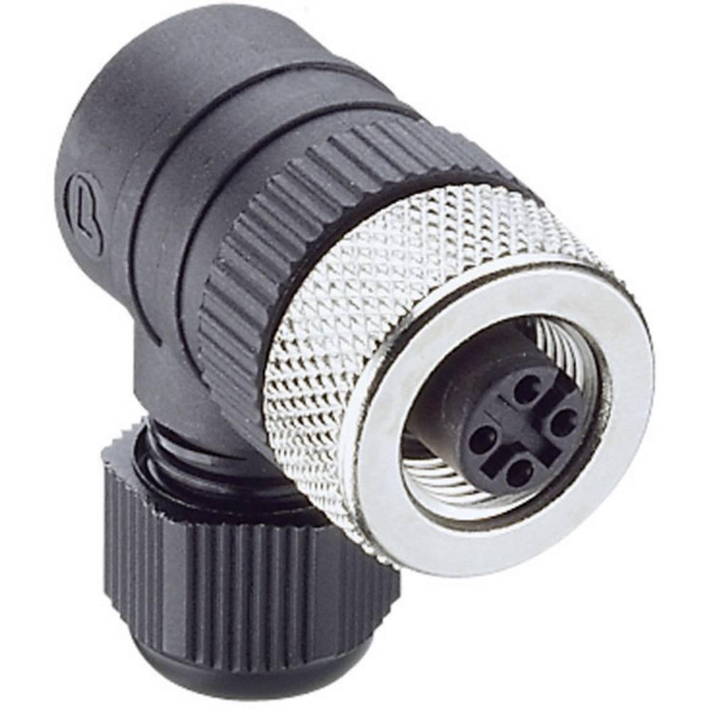 Ženski konektor za kabel z možnostjo predpriprave, M12RKCW 5/9 Črna Lumberg Automati 108660 Lumberg Automation