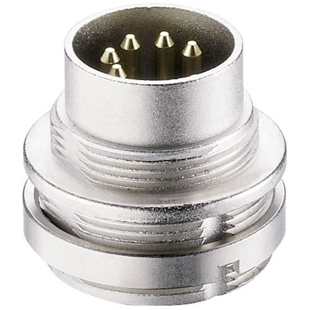 DIN- okrogli konektor-vtič, vgradni vertikalni št.polov: 3 srebrn Lumberg 0314 03 1 kos