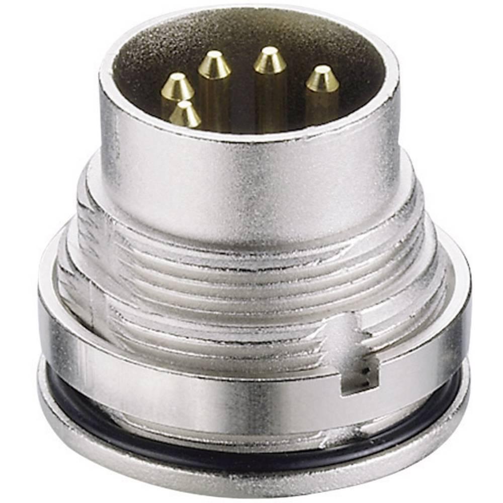 DIN- okrogli konektor-vtič, vgradni vertikalni št.polov: 8 srebrn Lumberg 0315 08 1 kos