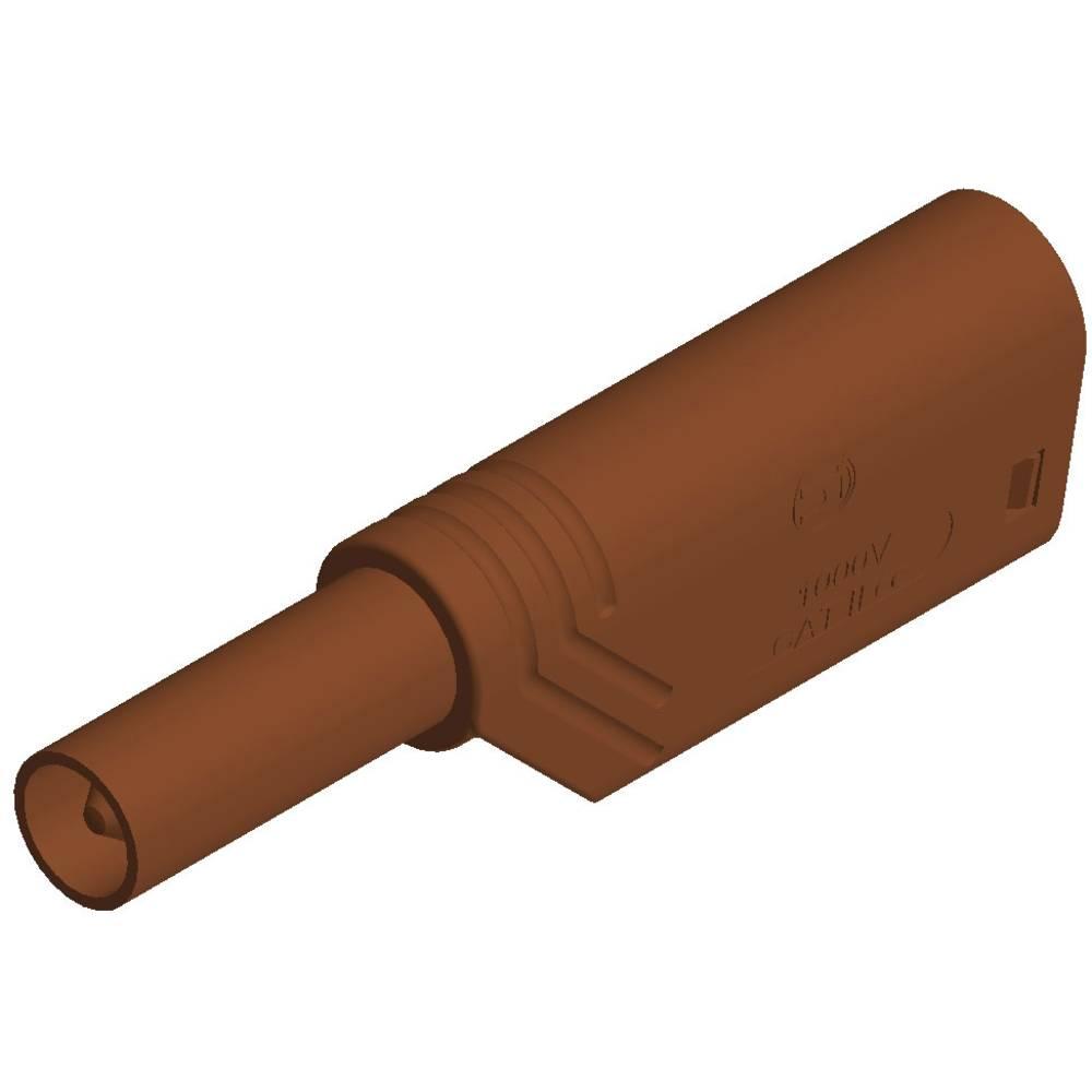 Sikkerhedslamelstik Stik, lige SKS Hirschmann LAS S G 4 mm Brun 1 stk