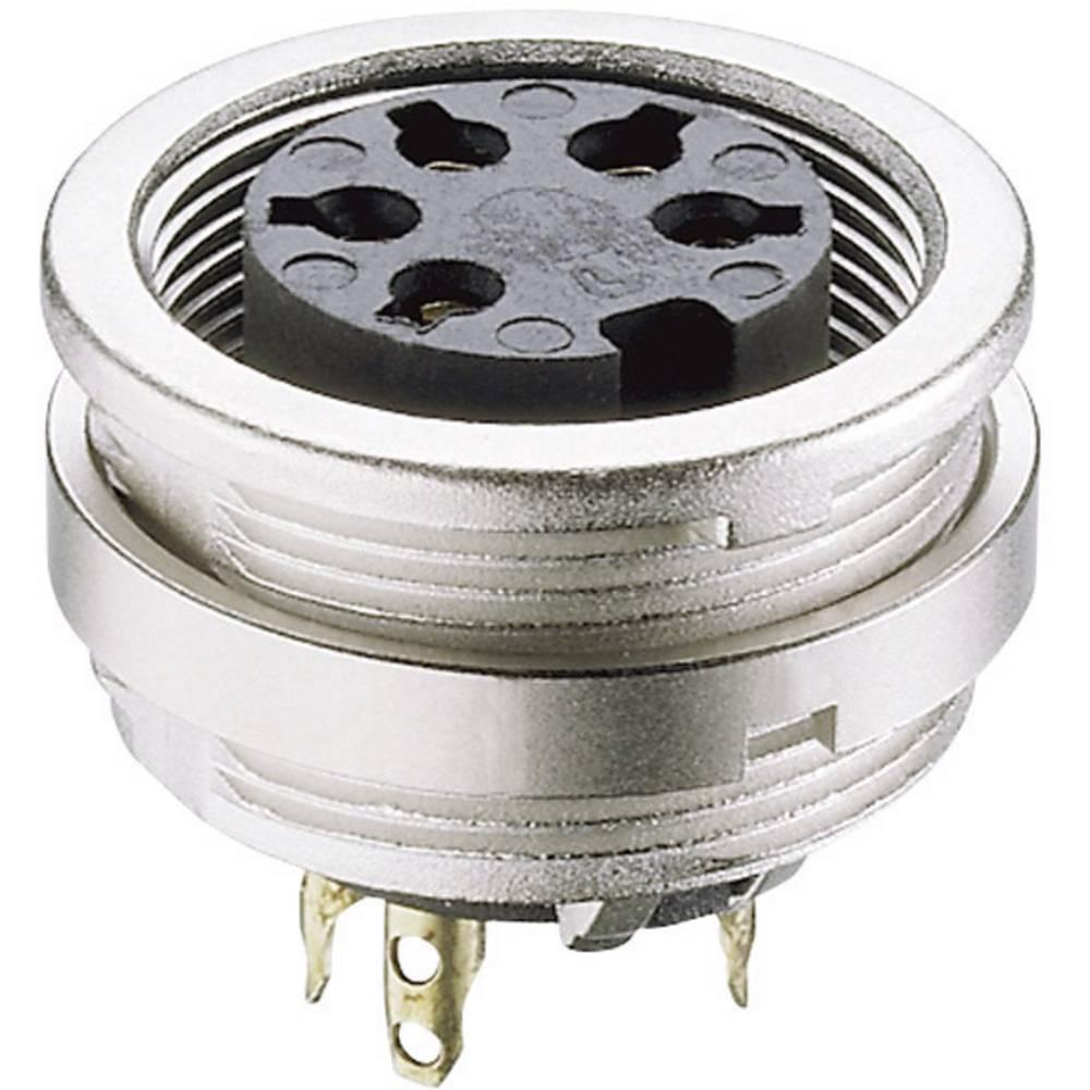 DIN-okrogli vtični konektor za vtičnico, vgraden, vertikalen število polov: 5 srebrne barve Lumberg KFV 50 1 kos