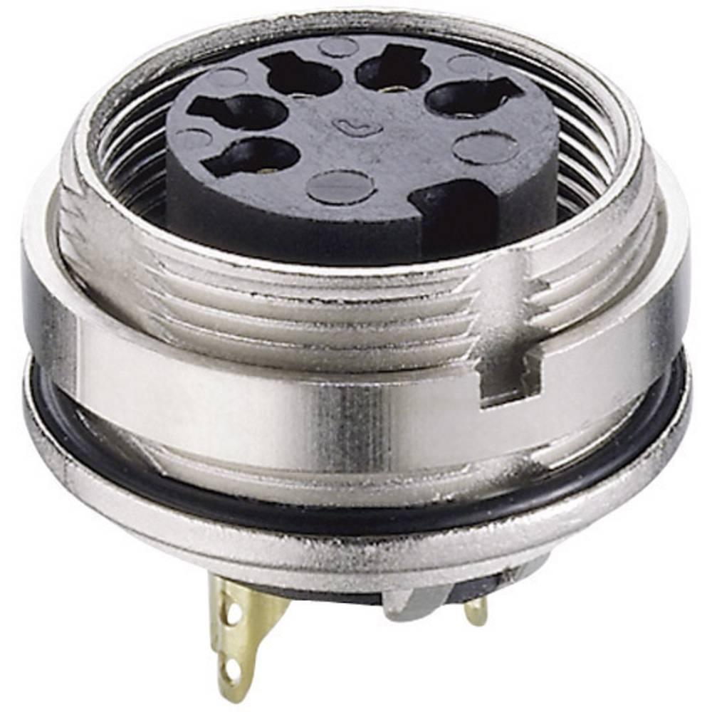 DIN-vgradni ženski konektor, vgradni vertikalni št.polov: 4 srebrn Lumberg 0305 04 1 kos