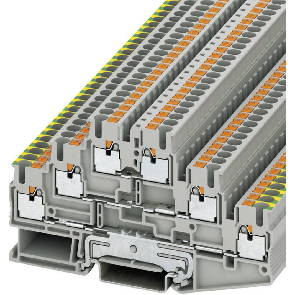 Push-in Three niveau terminal PT Phoenix Contact PT 2,5-PE/L/L Grå 1 stk