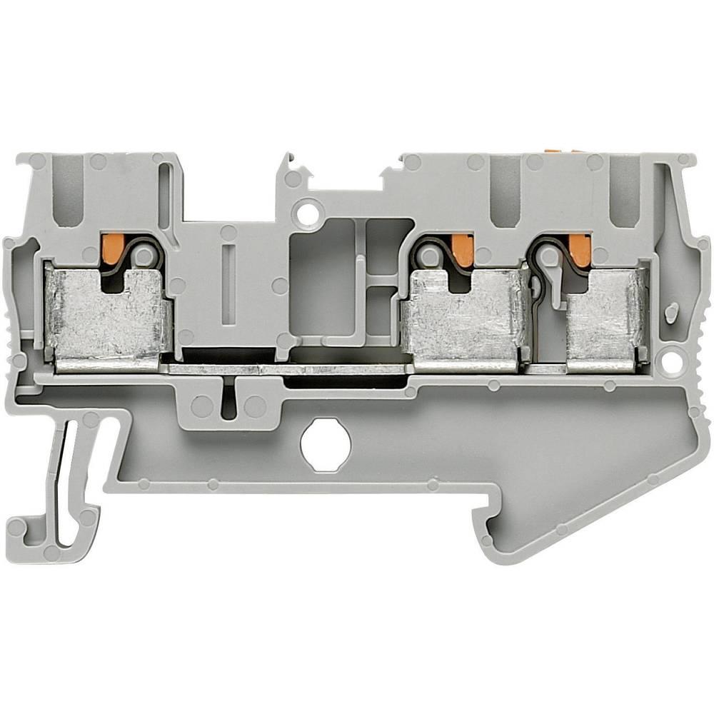 Push-In-trelederklemmer PT-TWIN PT 2,5-TWIN Phoenix Contact Grå Indhold: 1 stk