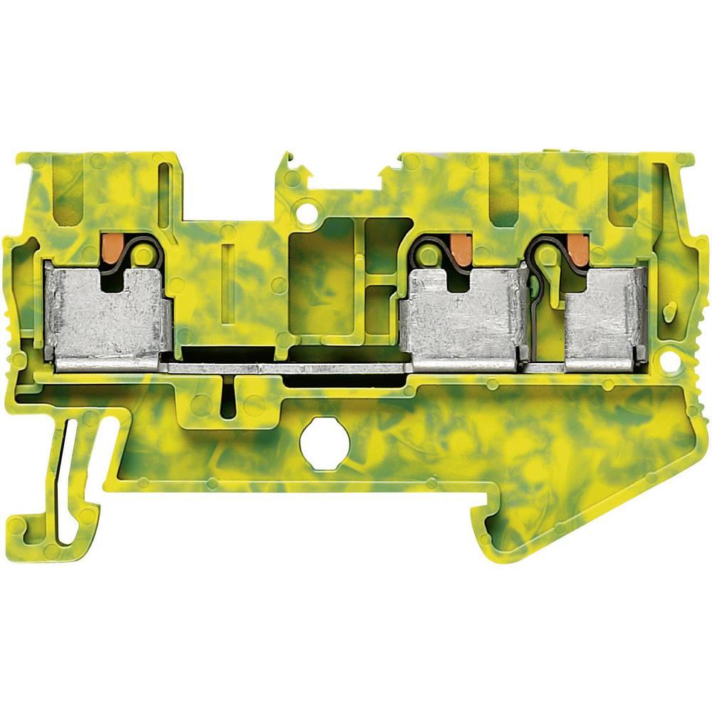 Push-in beskyttelsesleder terminal PT-PE Phoenix Contact PT 2,5-TWIN-PE Grøn-gul 1 stk